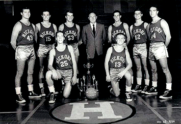 The most famous high school team of all time?  1952 Hickory High Huskers from the film Hoosiers.