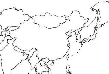 Blank Map Of Asia To Label.East Asia Map